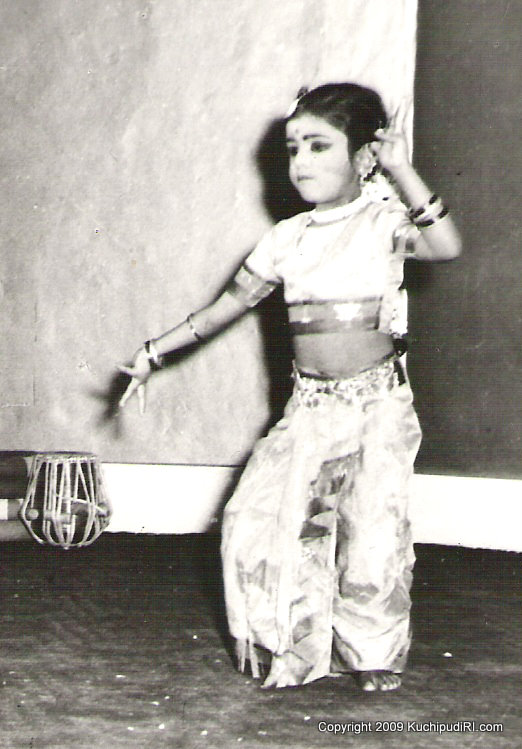 "Prafulla at age 5 dancing to Annamacharya's ""Adigo Alladigo"""